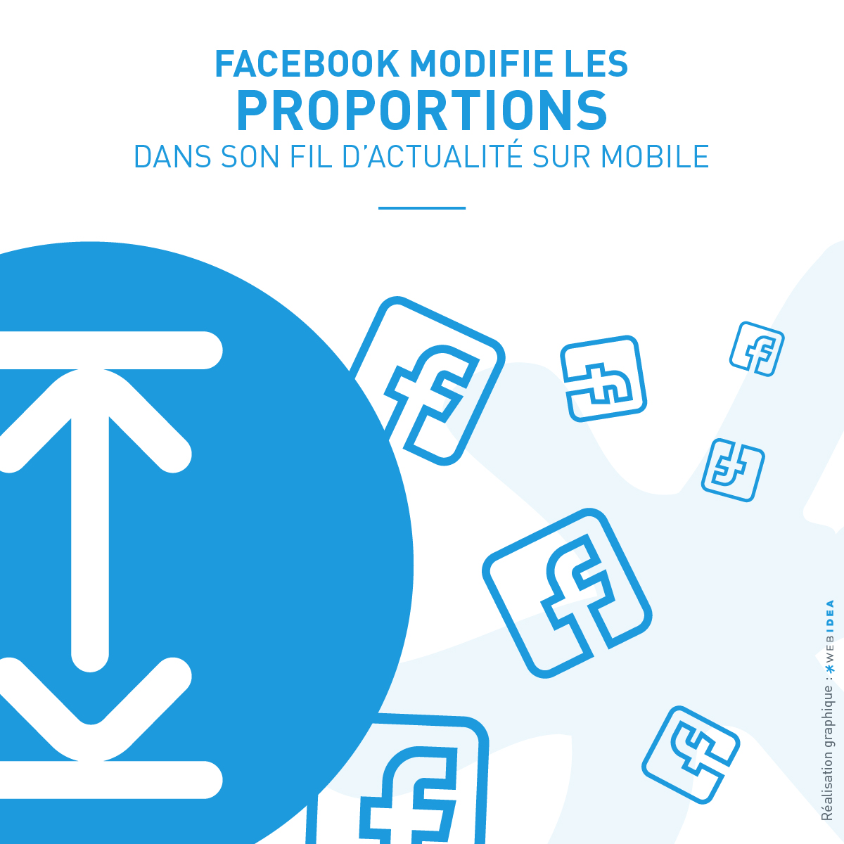 Illustration présentant les modifications du fil d'actualité Facebook