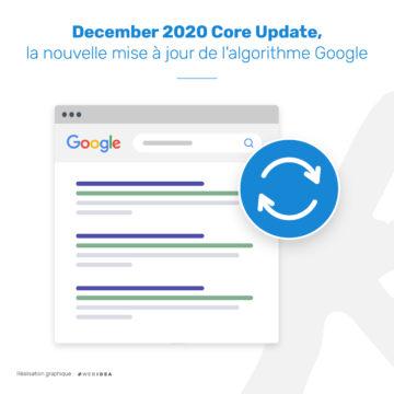 Infographie sur la core update de Google du mois de décembre