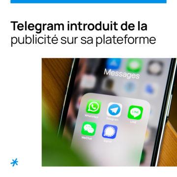 Telegram introduit de la publicité sur sa plateforme
